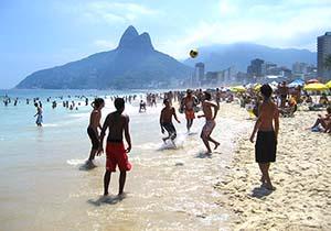 Brazilian Guys Playing Soccer