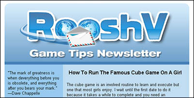 Dating tips newsletter