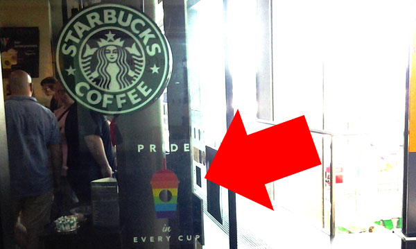 Starbucks heterosexual marriage sign