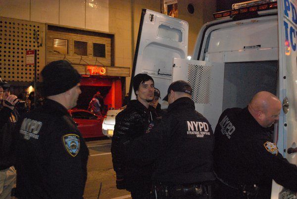 The face of a male feminist. He got arrested protesting a New York meetup.
